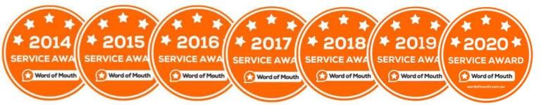 WOMO Service Awards 2014 - 2020